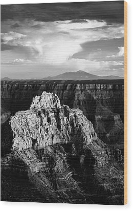 North Rim Wood Print by Dave Bowman