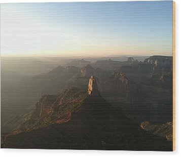 North Rim Dawn Wood Print by Cindy Croal
