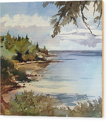 North Shore Lake Superior Wood Print by Spencer Meagher