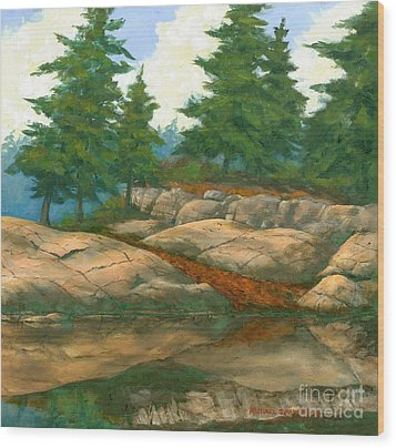 Wood Print featuring the painting North Shore by Michael Swanson