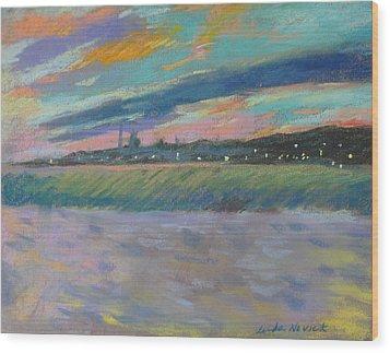 North Truro Sunset Wood Print