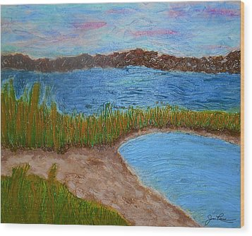 Wood Print featuring the painting North Wildwood   New Jersey by Joan Reese