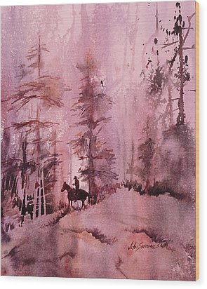 Wood Print featuring the painting North Woods by John  Svenson