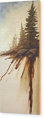 North Woods Pines Wood Print by Rick Huotari