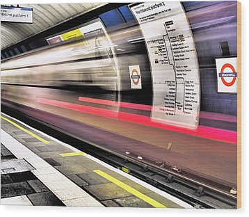 Northbound Underground Wood Print by Rona Black