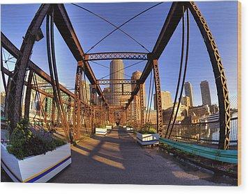 Northern Avenue Bridge Wood Print by Joann Vitali