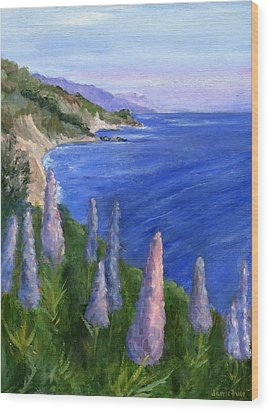 Northern California Cliffs Wood Print by Jamie Frier