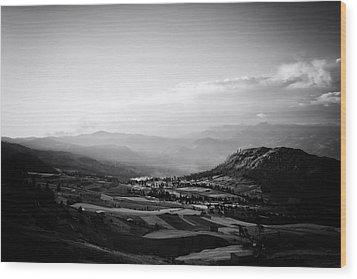 Northern Highlands Evening Wood Print