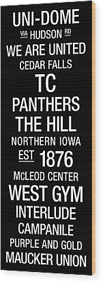 Northern Iowa College Town Wall Art Wood Print by Replay Photos