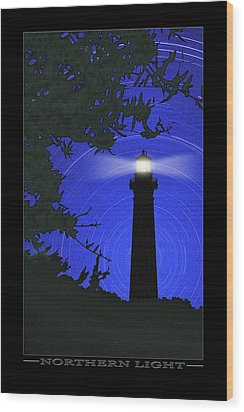 Northern Light Wood Print by Mike McGlothlen