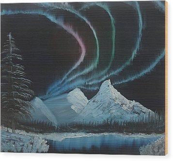 Northern Lights Wood Print by Ian Donley