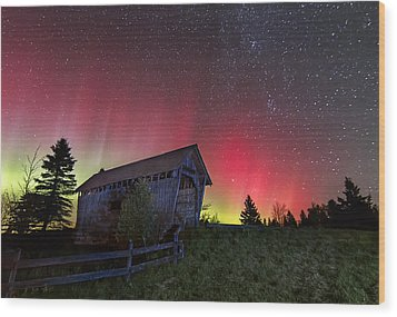 Northern Lights - Painted Sky Wood Print by John Vose