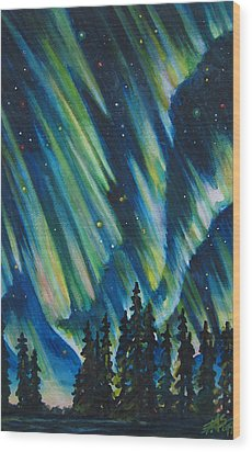 Northern Lights V Wood Print