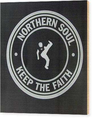 Northern Soul Dancer Inverted Wood Print
