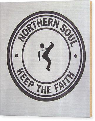 Northern Soul Dancer Wood Print