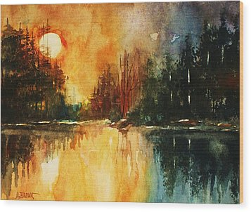 Northern Sunset Wood Print by Al Brown