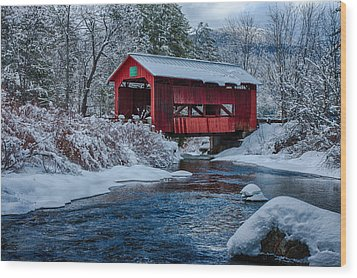 Northfield Vermont Covered Bridge Wood Print