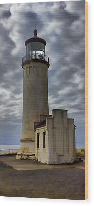 North Head Lighthouse Wood Print by Cathy Anderson