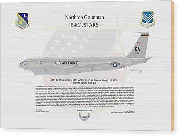 Northrop Grumman E-8c Jstars Wood Print by Arthur Eggers