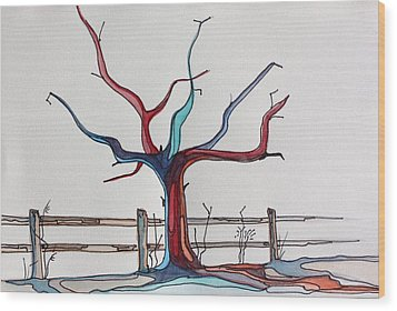Roots Wood Print by Pat Purdy