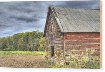 Northwest Barn Wood Print by Jean Noren