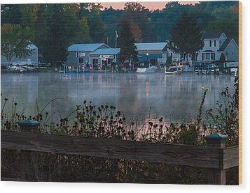 Northwest Landing Marina Wood Print