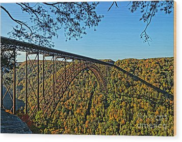 Northwest View Of Gorge Bridge Wood Print by Timothy Connard