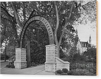 Northwestern University The Arch Wood Print by University Icons