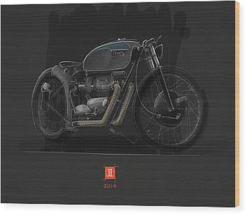 Norton Bobber Wood Print