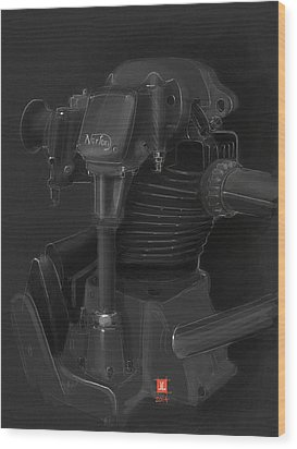 Norton Motor Wood Print