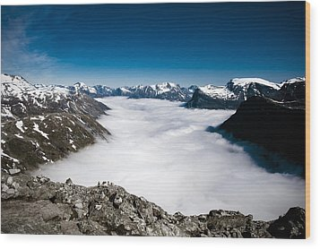 Norway In The Clouds Wood Print