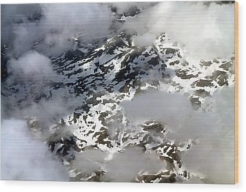 Norwegian Mountains From On High Wood Print by Laurel Talabere
