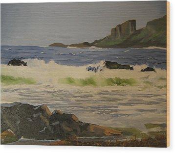 Norwick Beach Shetland Isles Wood Print