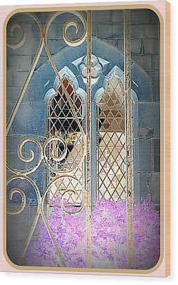 Nostalgic Church Window Wood Print by The Creative Minds Art and Photography