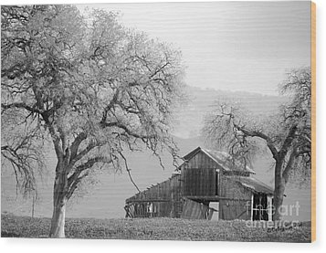 Not Much Time Left Bw Wood Print by Debby Pueschel