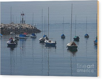 Wood Print featuring the photograph Sail Boats  by Eunice Miller