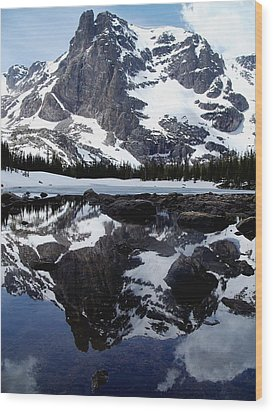 Notchtop Reflection Wood Print by Tranquil Light  Photography