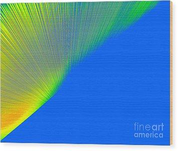 Nothern Lights Wood Print by Ausra Huntington nee Paulauskaite