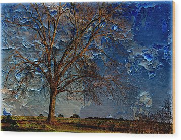 Nothing But Blue Skies Wood Print by Jan Amiss Photography