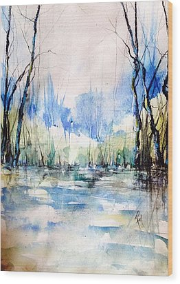 Nothing But Blue Skies...coming Our Way Wood Print by Robin Miller-Bookhout