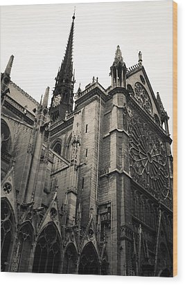 Notre Dame - For Eugene Atget Wood Print by Ross Henton