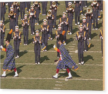 Notre Dame Band Wood Print by David Bearden