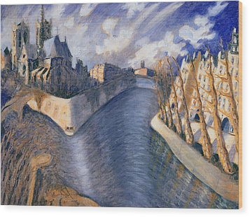 Notre Dame Cathedral Wood Print by Charlotte Johnson Wahl