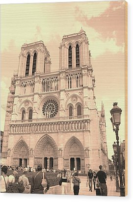 Wood Print featuring the photograph Notre Dame Cathedral by Cleaster Cotton