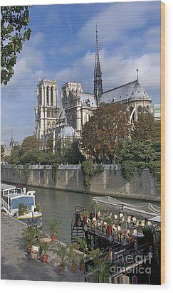 Notre Dame Cathedral. Paris Wood Print by Bernard Jaubert