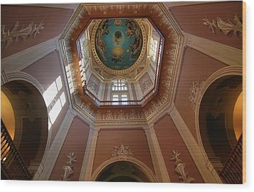 Notre Dame Ceiling Wood Print by Dan Sproul