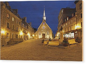 Notre Dame Des Victories And Place Royale Wood Print by Juergen Roth
