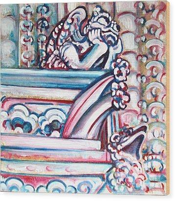 Notre Dame Gargoyle Wood Print by Bonnie Sprung