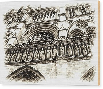 Notre Dame Pencil Wood Print