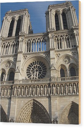 Wood Print featuring the photograph Notre Dame by Tiffany Erdman